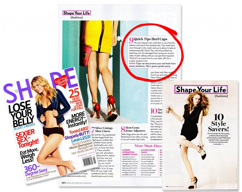 GoGo Heel Quick Tips featured in SHAPE Magazine