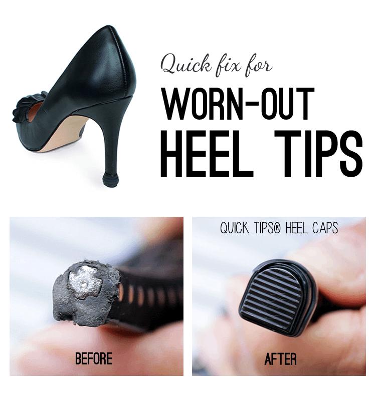 Instant Heel Caps - Quick fix for worn heel tips