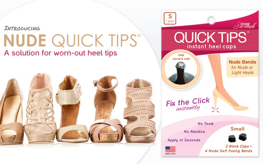 GoGo Heel releases QUICK TIPS Heel Caps for nude high heels