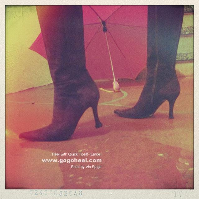 GoGo Heel Cap on high heel boots