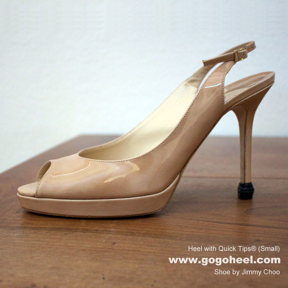 GoGo Heel Lookbook with Quick Tips® Heel Cap on Nude Heels