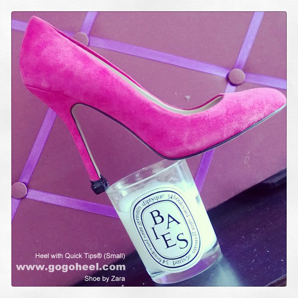 GoGo Heel Caps on pink pumps (small size)