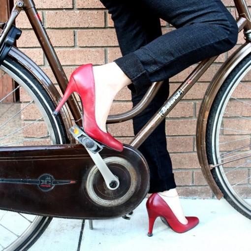 QUICK TIPS Small Heel Cap on Red High Heels