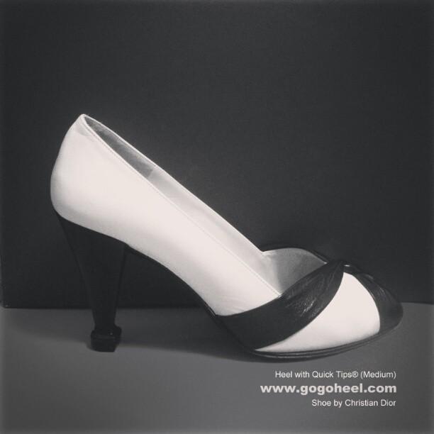 GoGo-Heel-Cap-on-Black-white-high-heels
