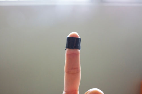 Self Fusing Band around finger