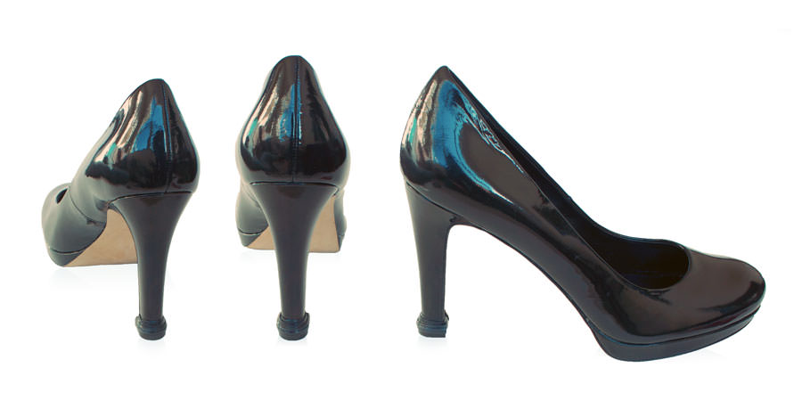 QUICK TIPS Large Caps on black high heel shoes