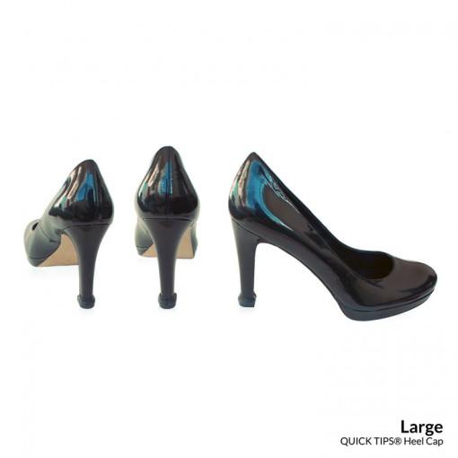 QUICK TIPS Large Heel Cap on Black High Heels