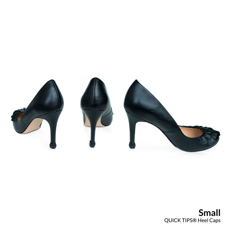 QUICK TIPS Small Caps on black high heel pumps