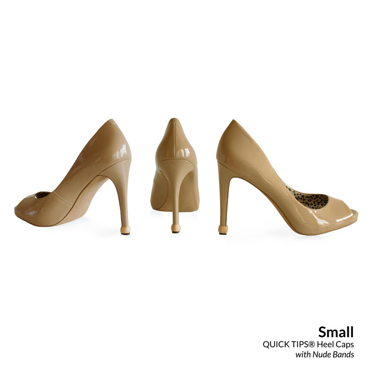QUICK TIPS Small Caps on nude high heels
