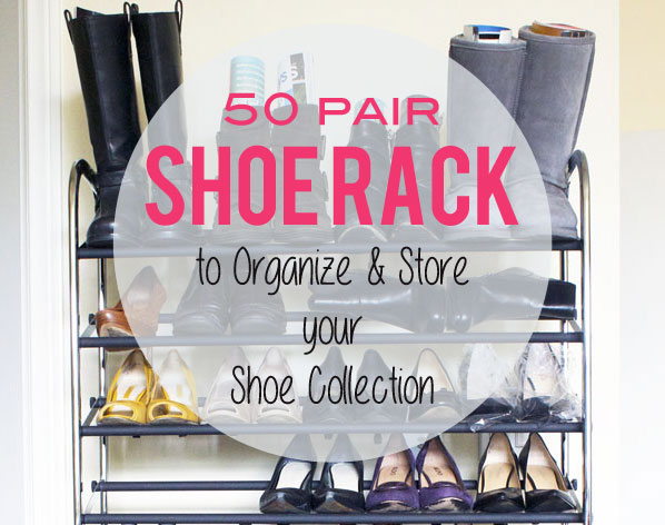 50-Pair Shoe Rack to Organize and Store your Shoe Collection