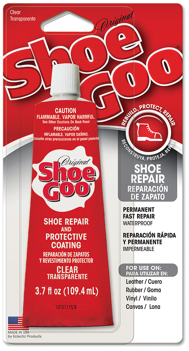 Shoe Goo Is An Excellent Adhesive Sealant For Repairing And Rebuilding Shoes It Works On Leather Rubber Vinyl Canvas Very Versatile