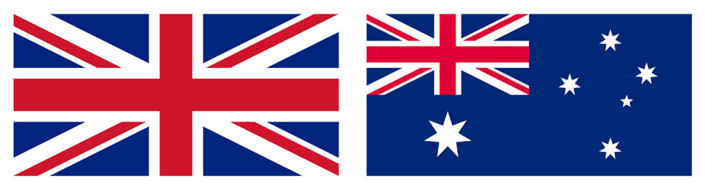 UK and Australia flags