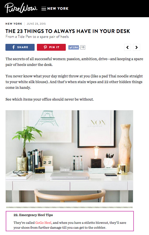 PureWow Article 23 Things to Always Have in Your Desk