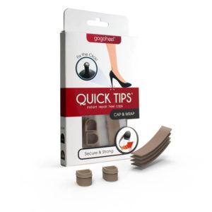 QUICK TIPS Cap & Wrap Heel Repair Kit, 1 Pair Small – Taupe