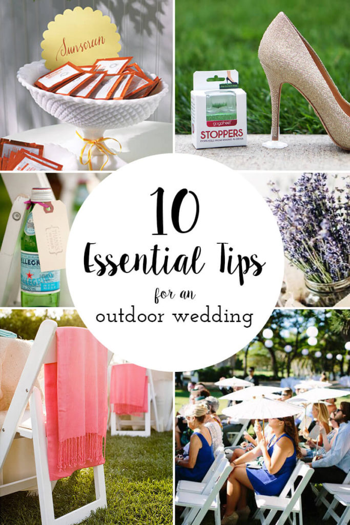 10 essential tips for outdoor weddings