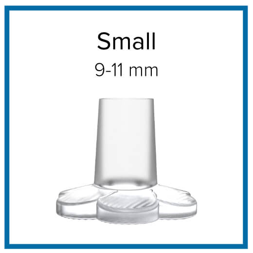 Choose cap size after measuring heel tip