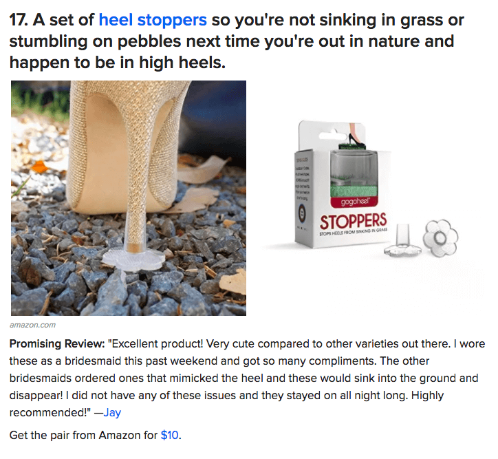 GoGoHeel STOPPERS featured on BuzzFeed List of Shoe Hacks