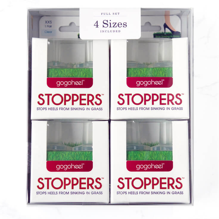 GoGoHeel STOPPERS Heel Protector 4-Pair Full Set