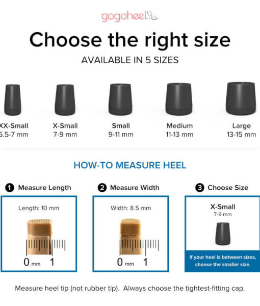 QUICK TIPS High Heel Caps - How To Measure Your Heel